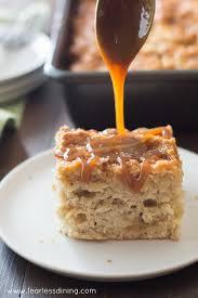 irresistible gluten free caramel apple cake