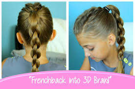 Hairstyles For School Step By Step Single Frenchback Into Round Braid Back To School Hairstyles