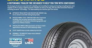 Goodyear Speed Rating Chart Rv Tire Safety Goodyear Endurance St Tire Info