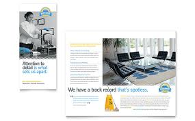 Microsoft Office Tri Fold Brochure Template Janitorial Brochure Templates Tadlifecare Com