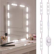 viugreum makeup mirror lights dimmable 60leds led vanity light kits 10ft 1200lm daylight white