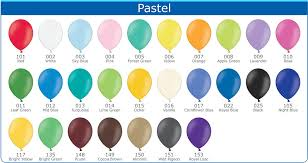 Balloon Colour Chart Just So Balloons