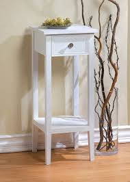 small 12 white sofa end side bedside table nightstand tall slim accent tables