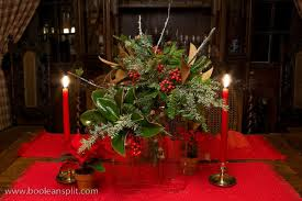 red christmas table decorations. Red Christmas Table Decorations With Adorable Lights