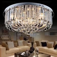 semi flush mount ceiling light 3 light crystal glass