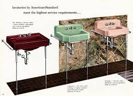 above the american standard sink lineup in 1955 included from left