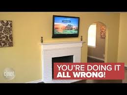 why a tv should never be mounted over fireplace you re doing it pertaining to mounting