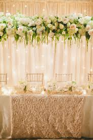 Designer Wedding Linens Classic White Wedding With A Stunning Floral Installation