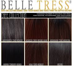Belletress Wigs Cafe Collection Color Charts
