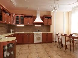 interior design ideas kitchen. Admirable Contemporary Small Kitchen Design Ideas Applying Flooring Tile With White Dark Brown Cupboard Furnished Interior