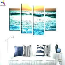 beach canvas wall art uk bold design scene large scenes designs nice metal clock ar