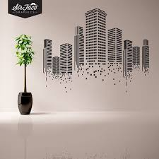 office wall stickers. For The Highway, Maybe A More Country Road Scene With Going Into Distance? Urban Wall Decal Office By SirFaceGraphics, Stickers M