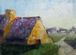 open door painting. 2017-40-art-stebner-landscapes-Ancient Cottage, Open Door Open Door Painting