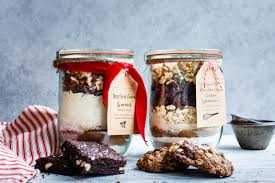 brownie and cookie mix gift in a jar