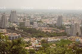 big view photography. City View Of And Big Temple In Tiruvanumalai Royalty-free Stock Photo Photography
