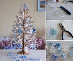 creative homemade christmas decorations. Diy Christmas Decorations Plastic Bottle Snowflakes Creative Homemade E