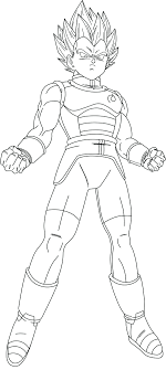 Dragon Ball Z Coloring Pages Vegeta Dragon Ball Z Goku Vs Vegeta
