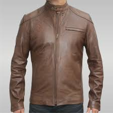 the lucky charmer men s leather jacket earth brown