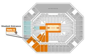 University Of Tennessee Seating Chart Thompson Boling Arena Big Orange Tix