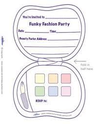 printable fashion makeup invitation coolest free printables