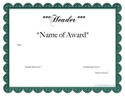 Free Printable Award Certificate Templates At Allbusinesstemplates Com