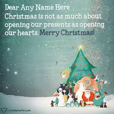 Online Christmas Messages Create Beautiful Short Christmas Message With Name Alongwith Best
