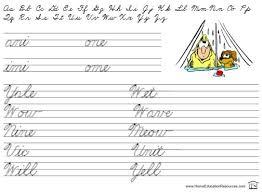 Printable Beginners Cursive Handwriting Free Printable