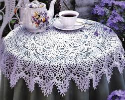 Crochet Decoration Patterns Decoration Easy Crochet Tablecloth Tablecloth Oval Crochet Pattern
