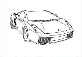 Bộ Sưu Tập Tranh Tô Màu Siêu Xe Cho Bé, Tô Màu Siêu Xe Lamborghini Aventador