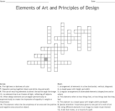 Elements And Principles Of Design Crossword Puzzle Elements Principles Of Design Crossword Wordmint