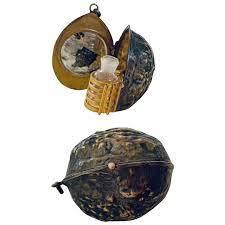 Victorian Novelty Walnut Perfume Bottle Pendant : Linda Sherrie Antiques    Ruby Lane