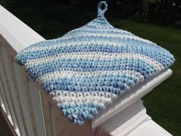 Double Thick Crochet Potholder Pattern Custom Hooked On Needles Crocheted Cotton HotpadPotholder Video Tutorial