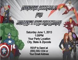 Personalized Superhero Birthday Invitations Avengers Superhero Birthday Party Invitations Personalized