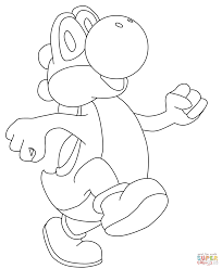 Happy Yoshi coloring page   Free Printable Coloring Pages