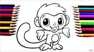 42+ Tranh tô màu con khỉ ngộ nghĩnh cho bé tập tô