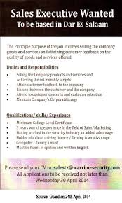 s executive tayoa employment portal job description