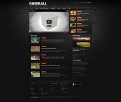 Baseball Websites Templates Website Template 47371 Baseball Portal Sport Custom Website