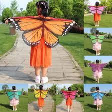 <b>Fashion</b> Child Kids Girls scarf <b>Bohemian style</b> Butterfly <b>Print</b> Shawl ...