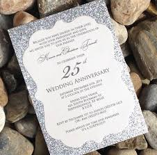 25th wedding anniversary invitations with graceful invitation for beauty your wedding invitation template 2