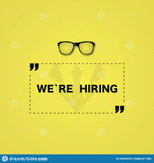 Job Hiring Poster Design Hiring Poster Or Banner Job Design On Yellow Colored