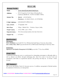 Personal Resume Templates Profile On A Resume Example Resume Examples This Resume  Example