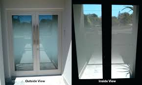 glass front door privacy front door window privacy installation examples desire frosted for and