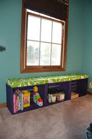 diy wooden crate bench with storage