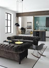 Living Room With Chesterfield Sofa Interior Design Tips Blue Velvet Chesterfield Sofa House Design