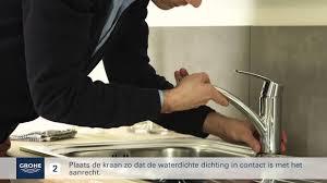 grohe keukenkraan installeren you