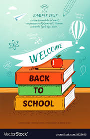 School Poster Designs Back To School Poster Education Background Vector Image