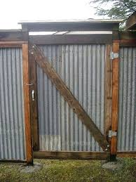 corrugated metal fence reclaimed panels