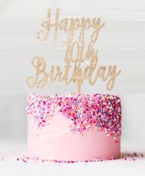 Happy 70th Birthday Birch Wood Cake Topper Lissielou