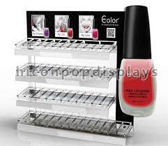 Make Up Stands And Displays Impressive Metal Makeup Display Stands Nail Polish Counter Display Customized