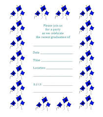 Free Graduation Party Invitation Templates For Word Printable